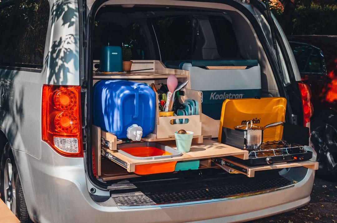Kit de conversion avec cuisine à tiroirs - Vanpackers